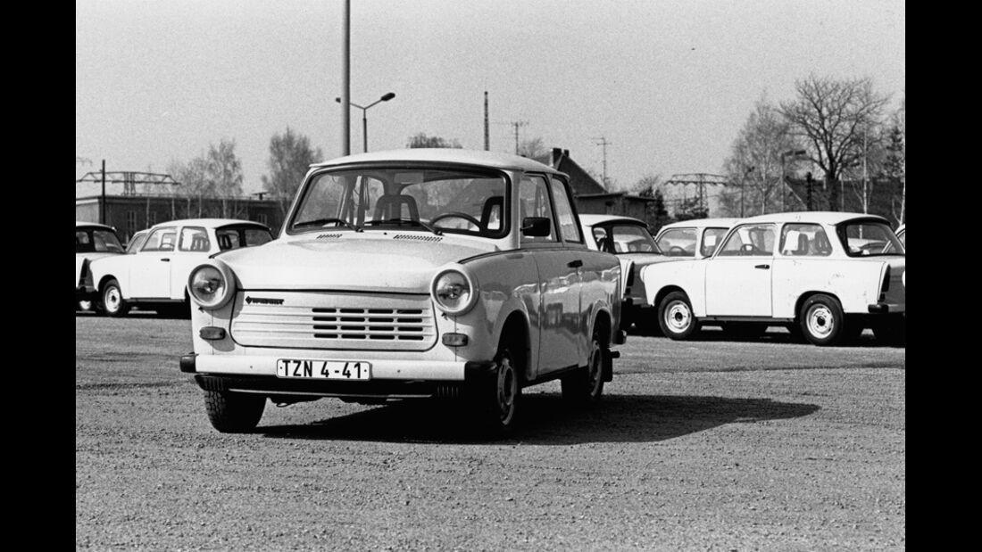 Trabant, Parkplatz