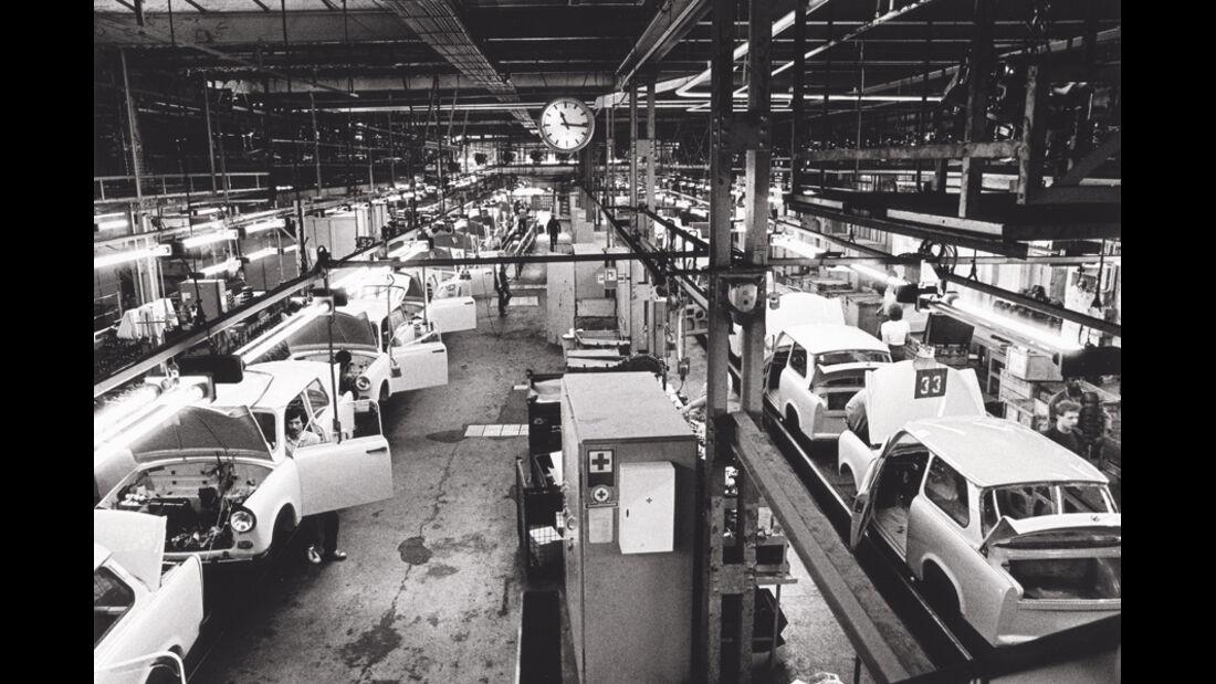Trabant, Werkstätte, Halle