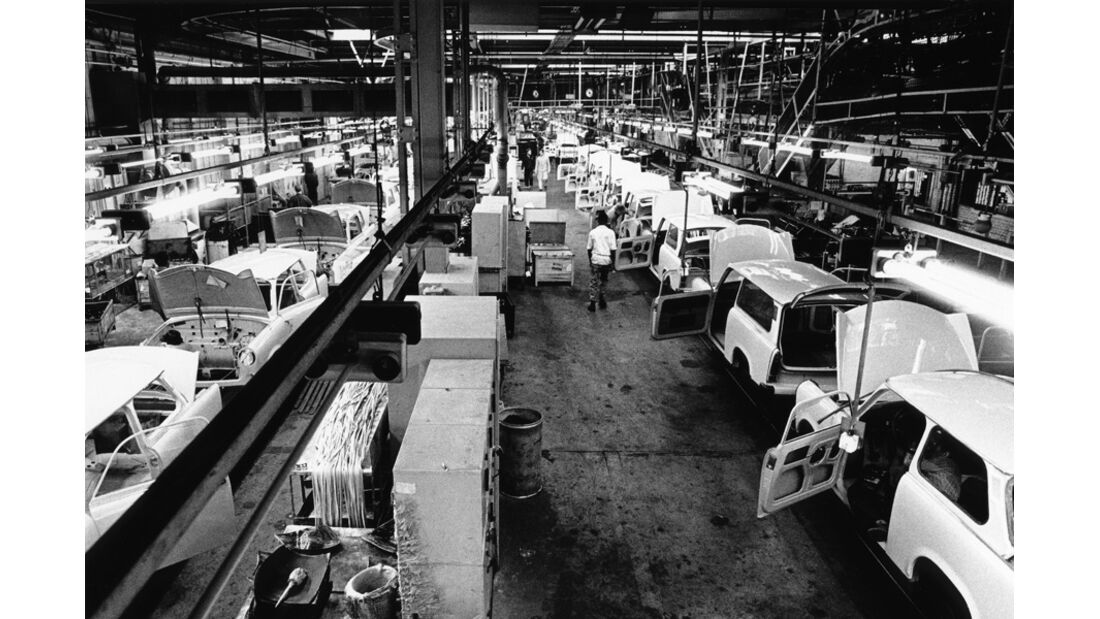 Trabant, Werkstätte, Halle, Übersicht