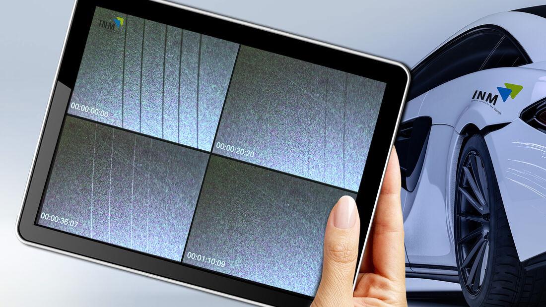 Transparente, selbst-heilende Nanomer®-Beschichtung als Schutzlack für Hochglanz-Oberflächen: Oberflächliche Mikrokratzer heilen unter Wärmeeinwirkung innerhalb weniger Minuten komplett aus.