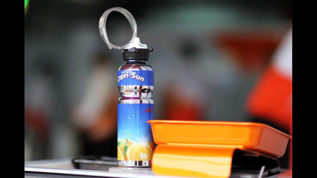Trinkflasche, Force India, Formel 1-Test, Barcelona, 01. März 2013