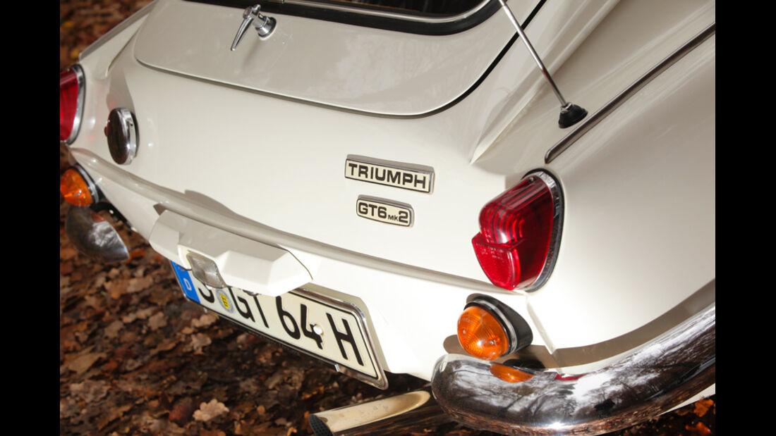 Triumph GT6, Heck, Typenbezeichnung