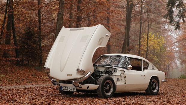 Triumph GT6, Motorhaube, offen