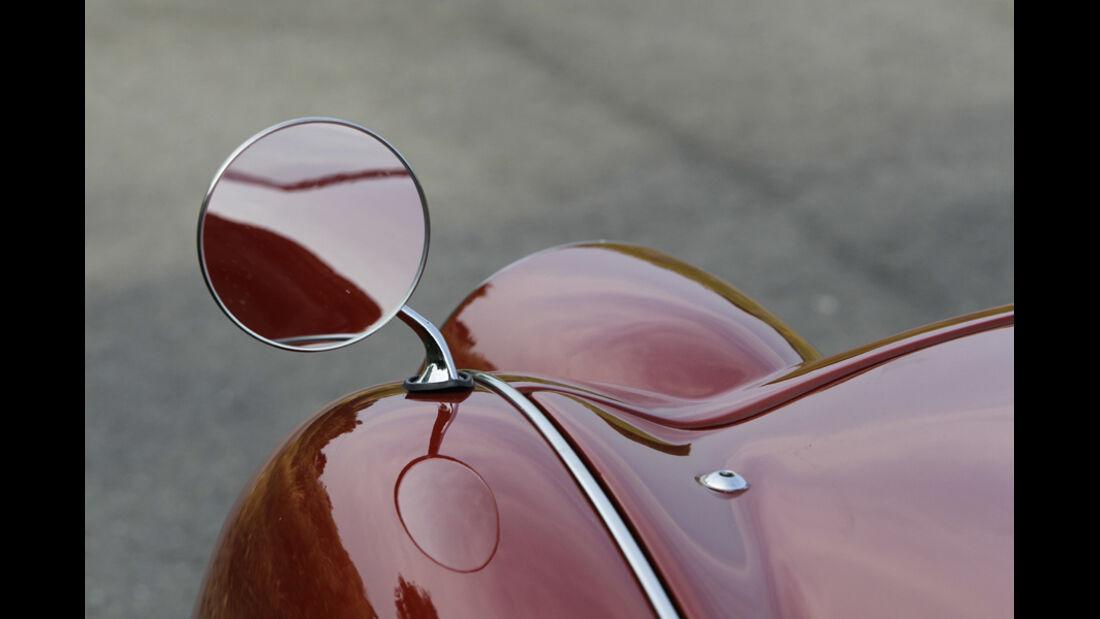 Triumph TR 3, Außenspiegel, Detail