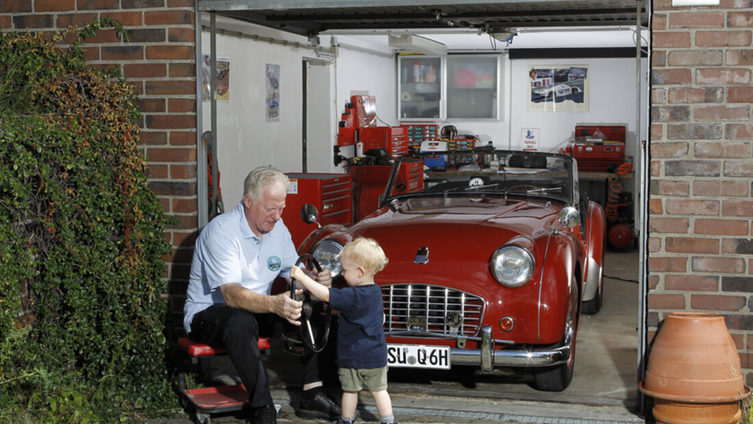 Triumph TR 3, Martin Kürten mit Enkel