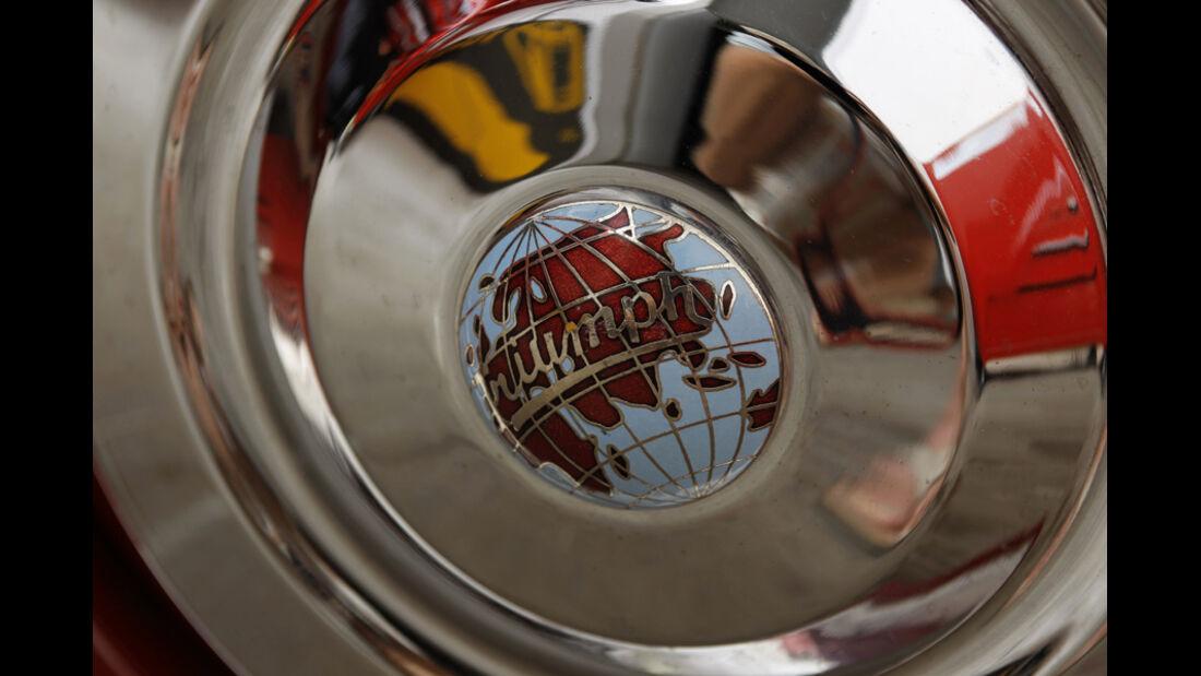 Triumph TR 3, Radkappen, Detail