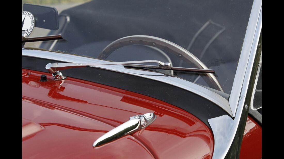 Triumph TR 3, Scheibenwischer, Detail