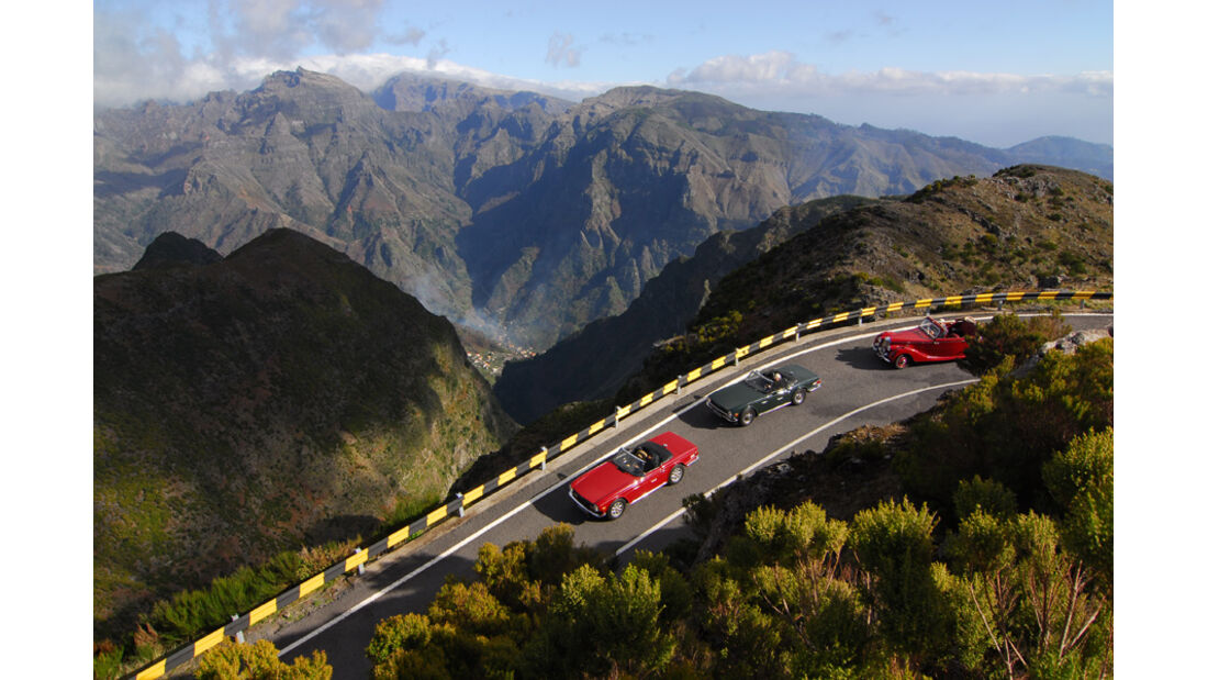 Triumph TR 6, Madeira, Berge
