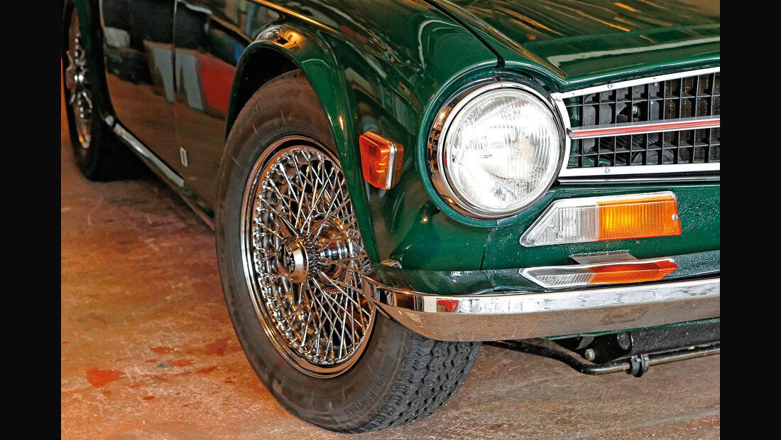 Triumph TR6, Speichenräder
