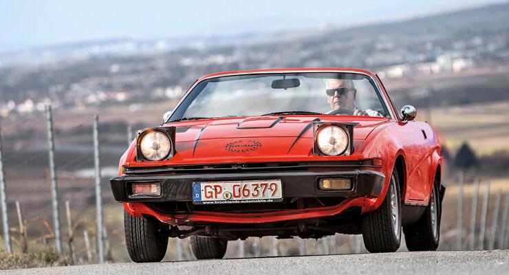 Triumph TR7 Cabrio, Frontansicht