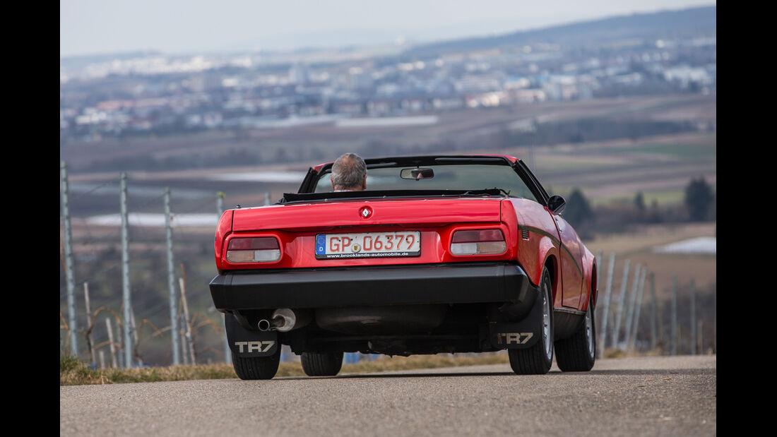 Triumph TR7 Cabrio, Heckansicht