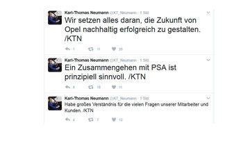 Tweet Karl-Thomas Neumann zu PSA 17.02.2017