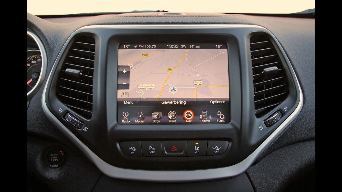 Uconnect Multimediasystem Jeep Cherokee