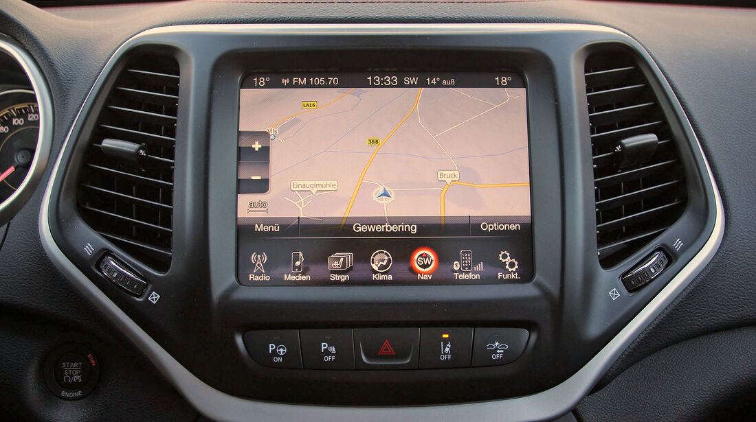 Uconnect Multimediasystem Jeep Cherokee