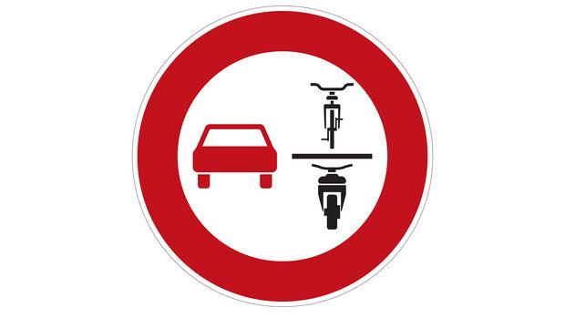 Überholverbot einspurige Fahrzeuge