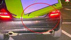 Überladener Mercedes SLK