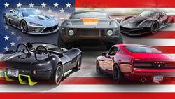 Unbekannte US Autos Cars Aufmacher Collage