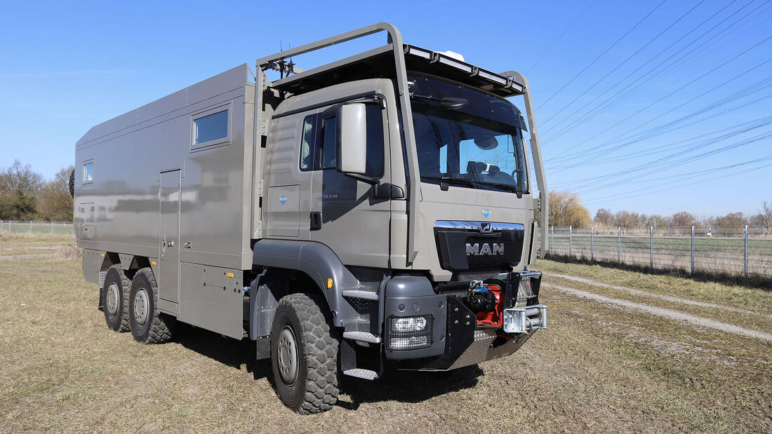 Unicat Expeditionsmobil MD72H auf Basis Lkw MAN TGS 6x6