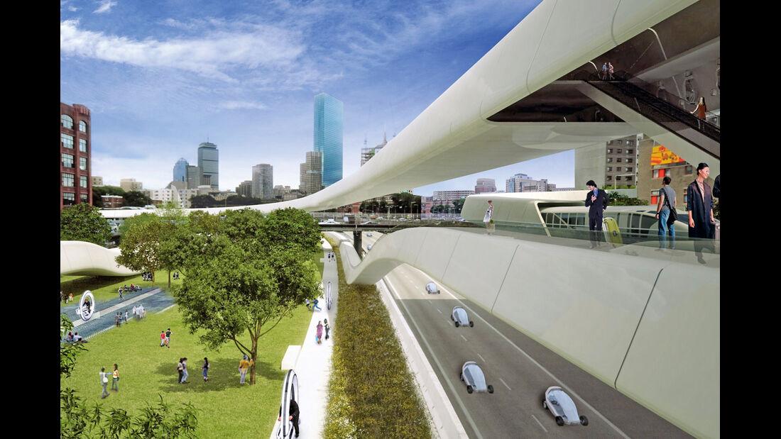 Urban Future Award, Miet-Elektroautos, Stadt