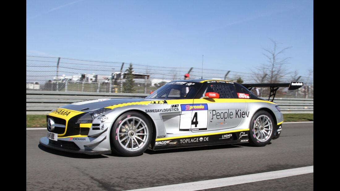 VLN, 2011, #4, Klasse SP9 , Mercedes-Benz SLS AMG GT3, BLACK FALCON