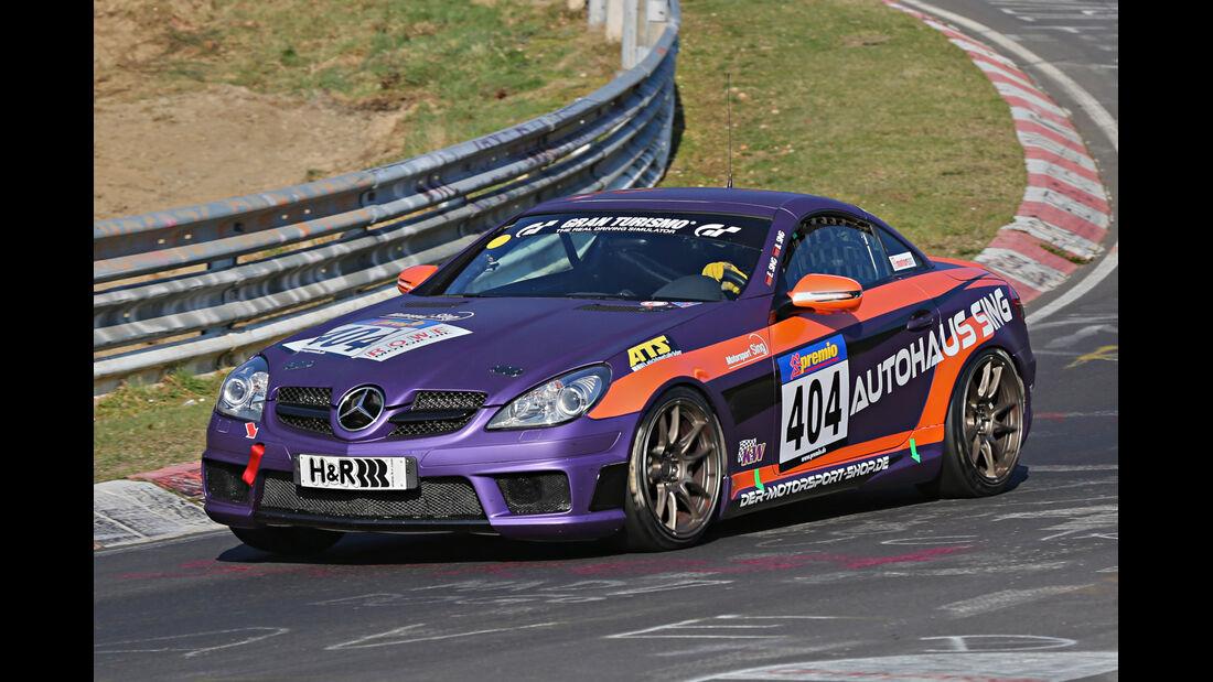 VLN 2014, #404, Mercedes-Benz 350 SLK, V6, Langstreckenmeisterschaft Nürburgring