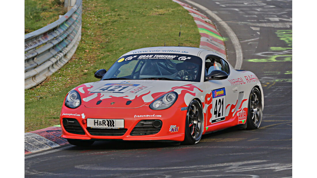 VLN 2014, #421, Porsche Cayman R, V6, Langstreckenmeisterschaft Nürburgring