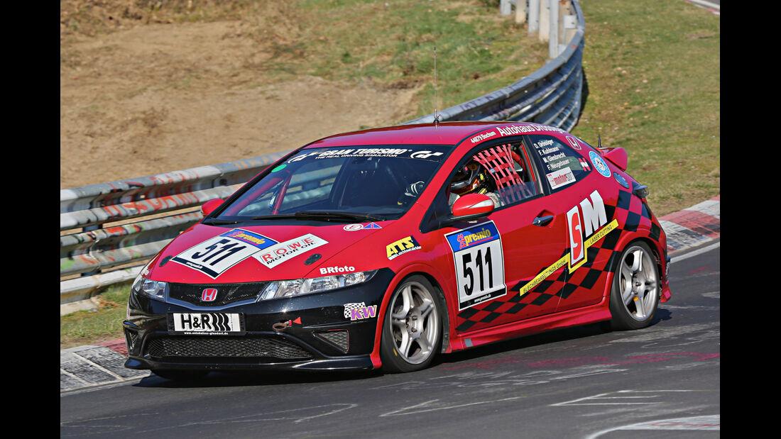 VLN 2014, #511, Honda Civic, V3, Langstreckenmeisterschaft Nürburgring