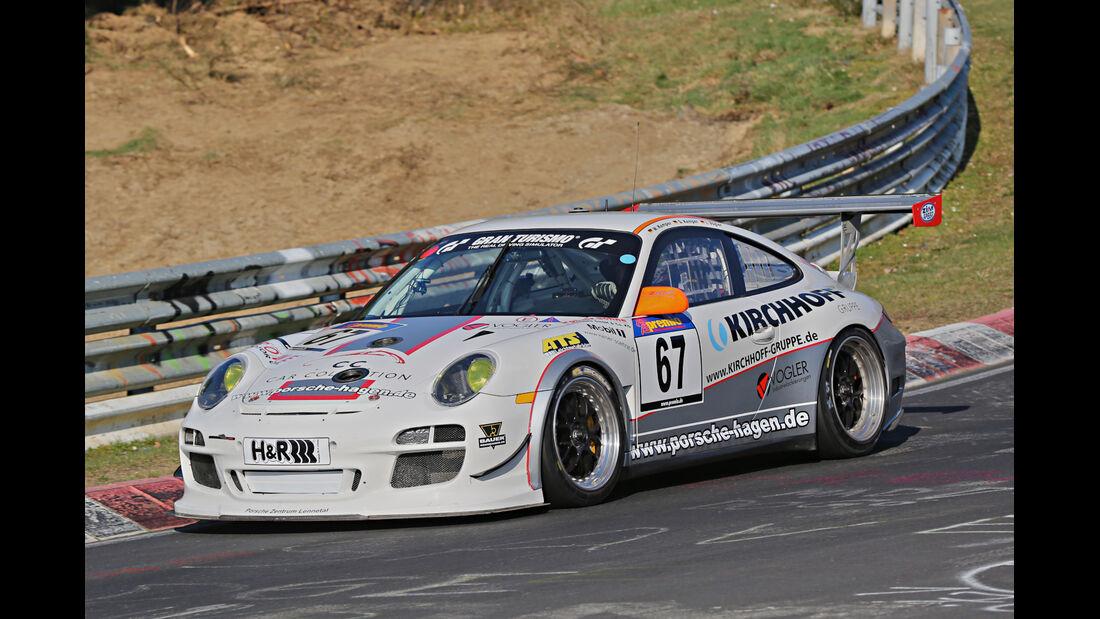VLN 2014, #67, Porsche 911 GT3 RSR, SP7, Langstreckenmenmeisterschaft Nürburgring