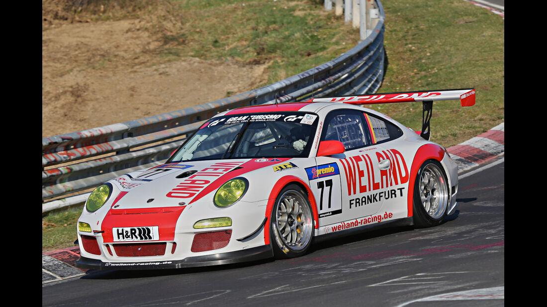 VLN 2014, #77, Porsche 911 GT3 RSR, SP7, Langstreckenmenmeisterschaft Nürburgring