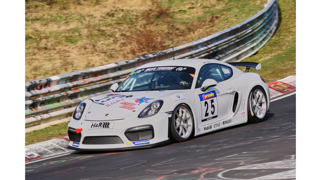 VLN 2016 - Nürburgring Nordschleife - Startnummer #25 - Porsche Cayman GT4 Clubsport - CUP3