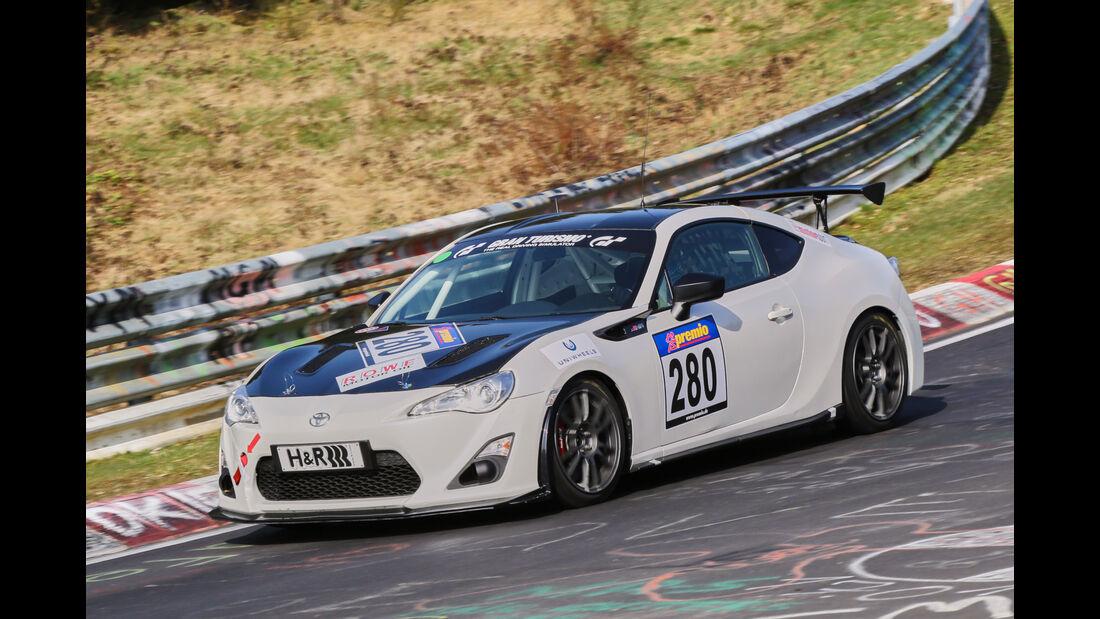 VLN 2016 - Nürburgring Nordschleife - Startnummer #280 - Toyota GT86 - SP3