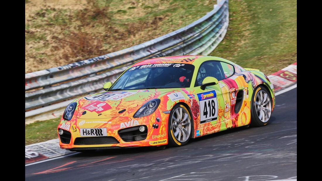 VLN 2016 - Nürburgring Nordschleife - Startnummer #418 - Porsche Cayman S - V6