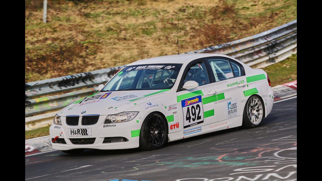 VLN 2016 - Nürburgring Nordschleife - Startnummer #492 - BMW 325i E90 - V4