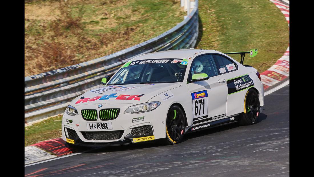 VLN 2016 - Nürburgring Nordschleife - Startnummer #671 - BMW M235i Racing Cup - CUP5