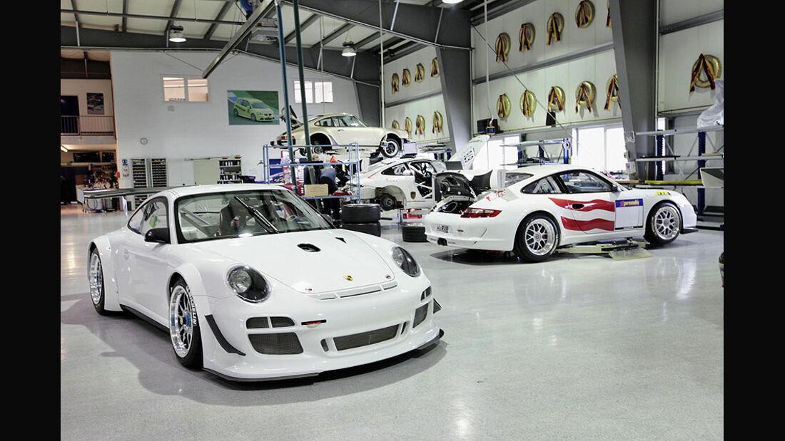VLN 24h-Rennen Manthey Motors Werkstatt