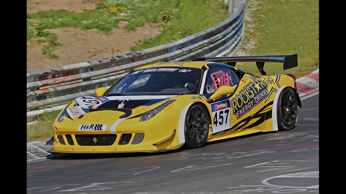 VLN Langstreckenmeisterschaft, Nürburgring, Ferrari 458 Italia, GT Corse by Rinaldi, SP8, #457