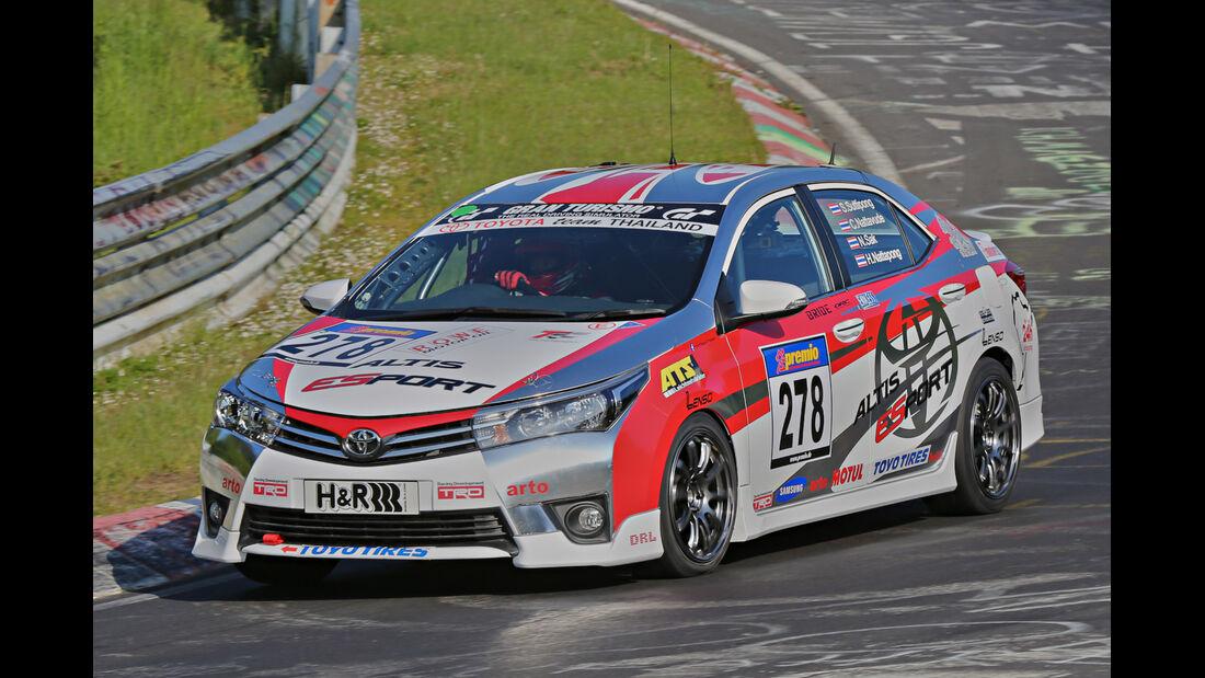 VLN Langstreckenmeisterschaft, Nürburgring, Toyota Corolla Altis, Toyota Team Thailand, SP3, #278