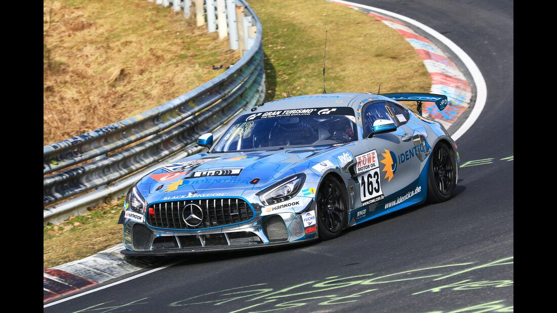VLN - Nürburgring Nordschleife - Startnummer #163 - Mercedes-AMG GT4 - Black Falcon Team IDENTICA - SP10