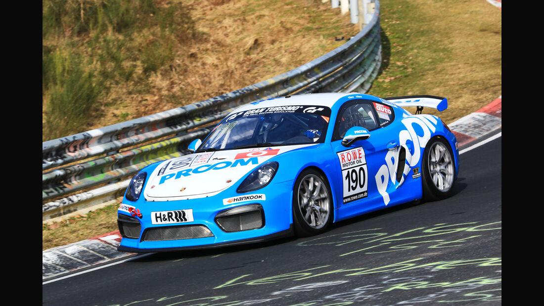 VLN - Nürburgring Nordschleife - Startnummer #190 - Porsche Cayman GT 4 CS MR - PROOM Racing - SP10