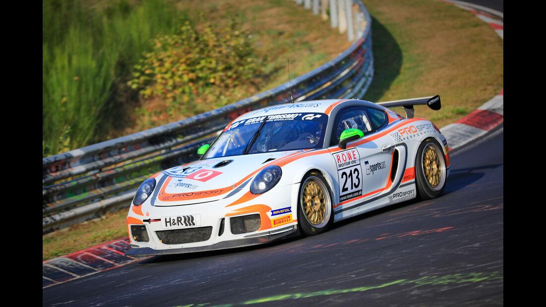 VLN - Nürburgring Nordschleife - Startnummer #213 - Porsche Cayman GT4 CS - PROsport-Performance GmbH - SP6