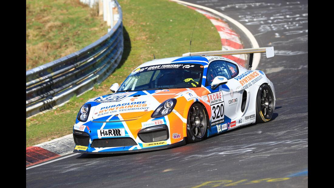 VLN - Nürburgring Nordschleife - Startnummer #320 - Porsche Cayman GT 4 Clubsport - Care for Climate - SPAT