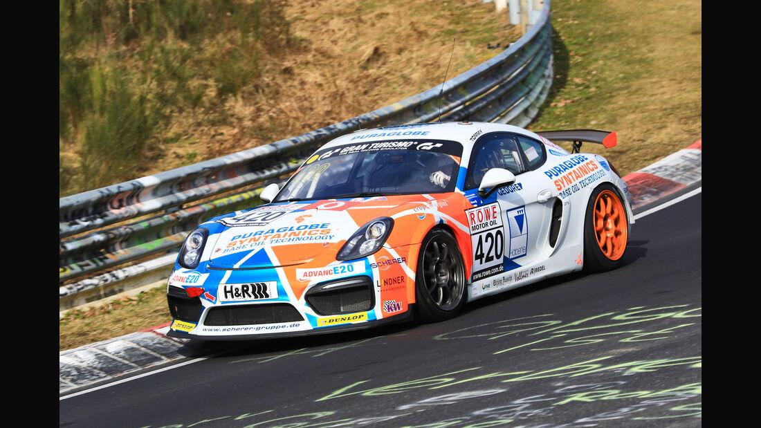 VLN - Nürburgring Nordschleife - Startnummer #420 - Porsche Cayman GT4 Clubsport - Care for Climate - AT(-G)