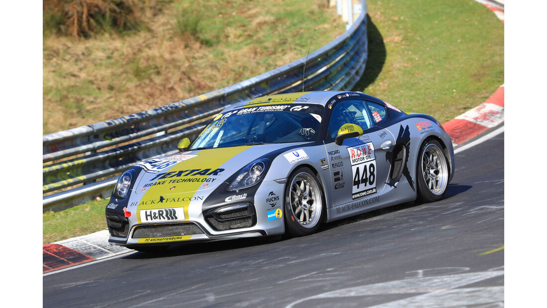VLN - Nürburgring Nordschleife - Startnummer #448 - Porsche Cayman - Black Falcon Team TMD Friction - V5