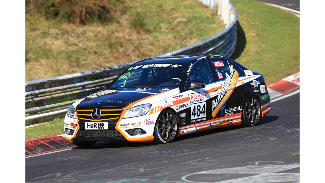 VLN - Nürburgring Nordschleife - Startnummer #484 - Mercedes C 230 - Team AutoArenA Motorsport - V4