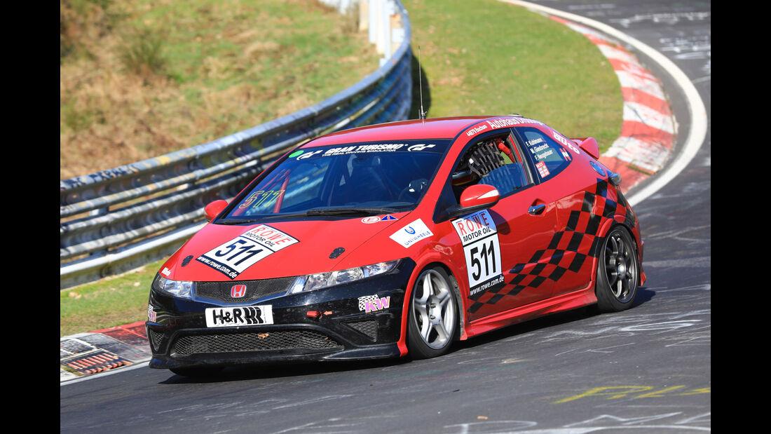 VLN - Nürburgring Nordschleife - Startnummer #511 - Honda Civic Type R CWE - ADAC Team Weser-Ems e.V. - V3