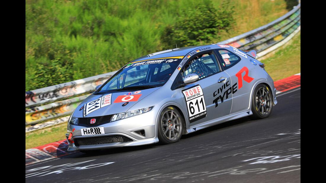VLN - Nürburgring Nordschleife - Startnummer #611 - Honda Civic Type-R - MSC Münster e.V. DMV - H2