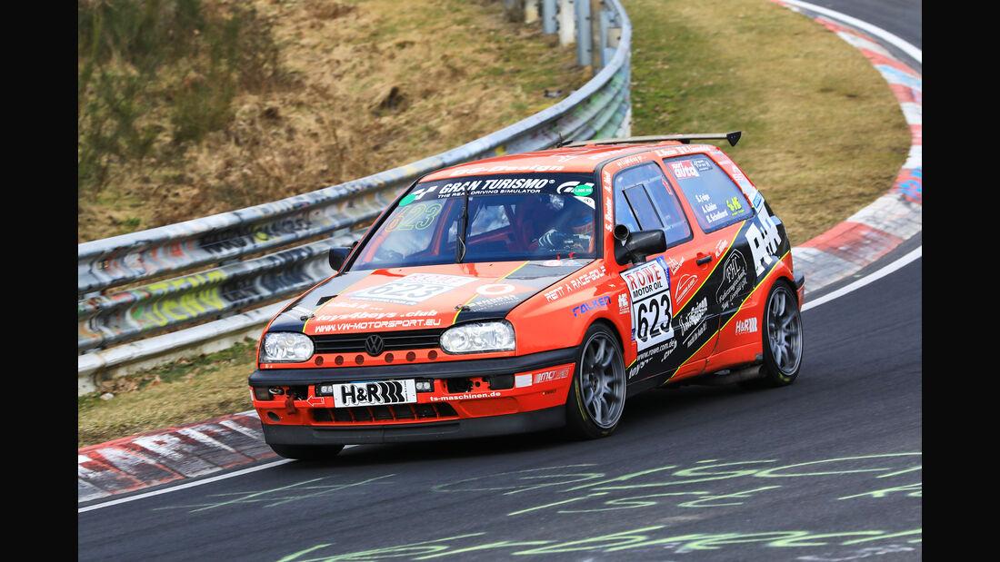 VLN - Nürburgring Nordschleife - Startnummer #623 - VW Golf 3 16V - 24H - MSC Sinzig - H2