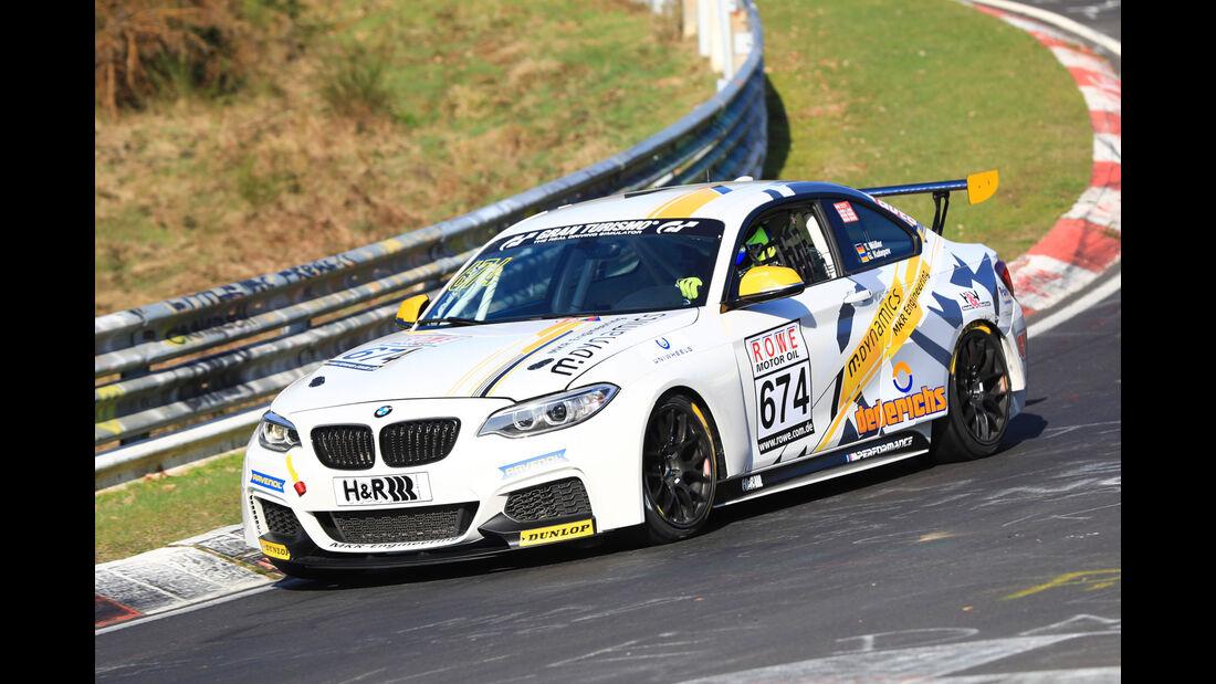 VLN - Nürburgring Nordschleife - Startnummer #674 - BMW M235i Racing Cup - MKR-Engineering - CUP5