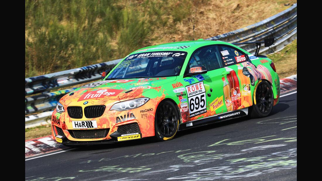 VLN - Nürburgring Nordschleife - Startnummer #695 - BMW M235i Racing Cup - Team Securtal Sorg Rennsport - CUP5