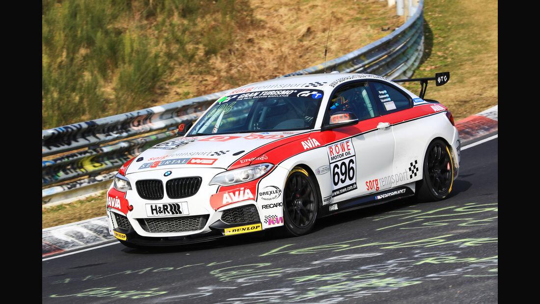 VLN - Nürburgring Nordschleife - Startnummer #696 - BMW M235i Racing Cup - Team Securtal Sorg Rennsport - CUP5